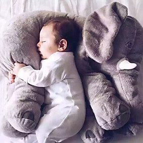 cheap Kids' Toys-Elephant Cushion Pillow Stuffed Animal Plush Toy Gift Cute Large Cartoon Silicone Plush Boys' Girls' Toy Gift 1 pcs