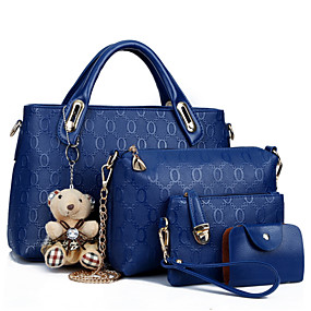cheap Valentine2020-Women's Zipper PU Bag Set Bag Sets 4 Pieces Purse Set Black / Yellow / Blue