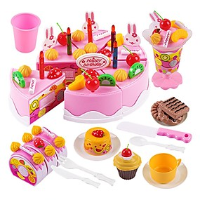 cheap Kids' Toys-Toy Kitchen Set Pretend Play Holiday Family Cake Exquisite Parent-Child Interaction Kid's Boys' Girls' Toy Gift 75 pcs