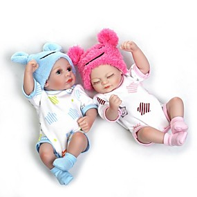 cheap Kids' Toys-NPKCOLLECTION NPK DOLL Reborn Doll Girl Doll Baby Girl 10 inch Full Body Silicone Silicone Vinyl - Newborn lifelike Cute Hand Made Child Safe Non Toxic Kid's Unisex Toy Gift / Natural Skin Tone