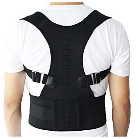 cheap Massagers & Supports-Men Women Adjustable Magnetic Posture Corrector Corset Back Brace Back Belt Lumbar Support Straight Corrector