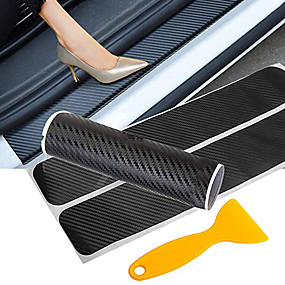 cheap Automotive Exterior Accessories-Car Door Sticker Carbon Fiber Car Door Sill Protector Traceless Sticker Anti Scratch Scuff Threshold Protection Auto Accessories