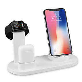 cheap Wireless Chargers-10W Fast Wireless Charger 360 Angle Rotating Desktop IPhone Micro Usb Type-C Triple Charger for iPhone Samsung Huawei Xiaomi and Others