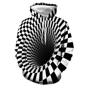 cheap Men's Hoodies & Sweatshirts-Men's Daily Pullover Hoodie Sweatshirt 3D Graphic Hooded Casual Basic Hoodies Sweatshirts  Long Sleeve Black