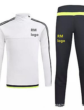cheap Team Sports-Men's Unisex Soccer Clothing Suit Breathable Football / Soccer Classic Polyester Black White