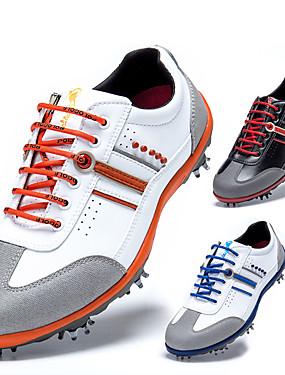 cheap Golf, Badminton & Table Tennis-TTYGJ Men's Golf Shoes Waterproof Anti-Slip Comfortable Golf Autumn / Fall Spring Black Blue Orange