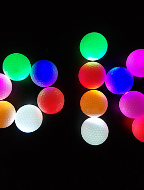 cheap Golf, Badminton & Table Tennis-Golf Ball 3pcs LED Lights Glow in the Dark Rubber For Sports & Outdoor Practise Night Golf Intermediate