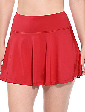cheap Golf, Badminton & Table Tennis-women's athletic skirt pleated tennis golf skirt with pockets red size l