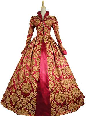 93a2bd8d51c8 královna Alžběta Vintage Rococo Viktoria Tarzı Kostým Dámské Šaty Kostým na  Večírek Maškarní Plesové Červená Retro