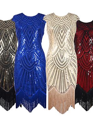 c2100d84d3dc Udsolgt. Store Gatsby 1920 erne Brølende 20s Kostume Dame Kjoler  Festkostume Flapper Dress Cocktail Kjole Rød+Sort ...