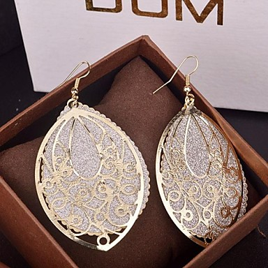 cheap Earrings-Women's Drop Earrings filigree Drop Cheap Statement Ladies Elegant Oversized fancy Earrings Jewelry Gold / Silver For Party Special Occasion Birthday Daily