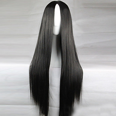 cheap Wigs & Hair Pieces-Cosplay Costume Wig Synthetic Wig Straight Kardashian Straight Middle Part Wig Long Light Blonde Light Brown Lake Blue Grey Shinly Green Synthetic Hair 28 inch Women's Natural Hairline Black