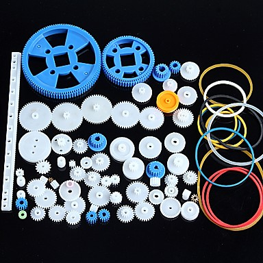 cheap Novelties-80 Kinds of Plastic Gear Motor Gear Gearbox Package Robot Accessories Kit