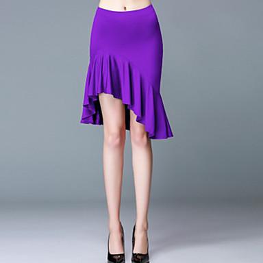 cheap Dancewear & Dance Shoes-Latin Dance Bottoms Women's Training / Performance Spandex Draping / Ruching / Pleats Dropped Skirts