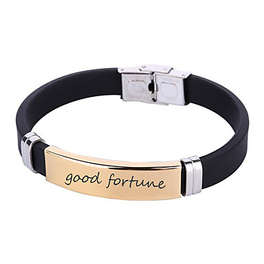 cheap Engraved Bracelets-Personalized Customized Bracelet Classic Name Engraved Gift Promise Festival 1pcs Gold Silver / Laser Engraving