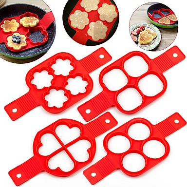 cheap Kitchen Utensils & Gadgets-Silicone Mold Pancake Maker Nonstick Cooking Tool Eggs Molds Maker Egg Cooker Pan Flip Kitchen Baking Tools
