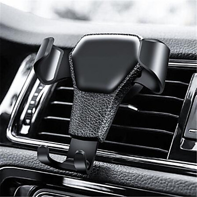 cheap New Arrivals-Gravity Car Phone Holder For Phone in Car Air Vent Clip Mount No Magnetic Mobile Phone Holder Cell Stand Support For iPhone GPS
