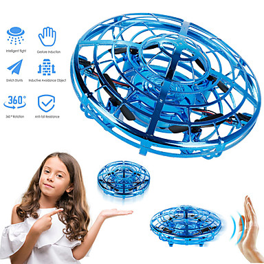 cheap Novelties-Magic Hand UFO Flying Aircraft Drone Toys Electric Electronic Toy LED Mini Induction Drone UFO toys Kids Xmas Brithday Gifts