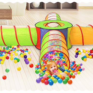 cheap Outdoor Fun & Sports-Play Tent & Tunnel Ball Pool Playhouse Tent Crawl Tunnel Toy Classic Theme Indoor Outdoor Foldable Convenient Simulation Exquisite Parent-Child Interaction Polyester Indoor Outdoor Spring Summer Fall