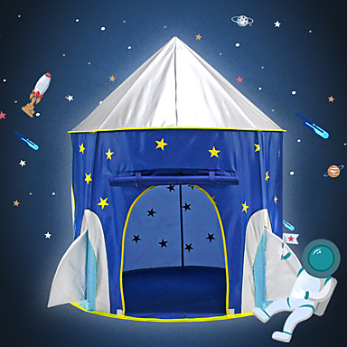 cheap Outdoor Fun & Sports-Play Tent & Tunnel Playhouse Tent Kids Play Tent Teepee Castle Spacecraft Star Foldable Convenient Pop up Tent Polyester Polyester Microfiber Indoor Outdoor Spring Summer Fall 3 years+ All Pop Up