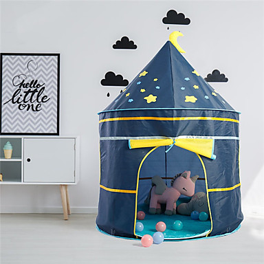 cheap Outdoor Fun & Sports-Play Tent & Tunnel Playhouse Tent Kids Play Tent Castle Teepee Castle Star Space Rocket Foldable Convenient Pop up Tent Polyester Polyester Microfiber Indoor Outdoor Spring Summer Fall 3 years+ All