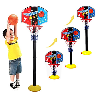 cheap Outdoor Fun & Sports-Basketball Hoop Basketball Hoop Set Portable Adjustable Indoor Plastics Plastic Boys and Girls