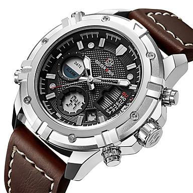 cheap Sport Watches-mens sport watch digital analog quartz waterproof multifunctional military leather wrist watches litbwat