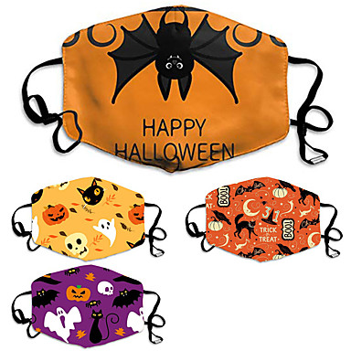 cheap Personal Protection-Halloween Mask Personalized Pattern Mask Dust-proof Cotton Mask Printing Mask