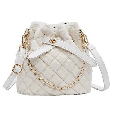 cheap Bags-Women's Bags Foxhair Crossbody Bag Chain for Daily White / Black / Blushing Pink / Khaki