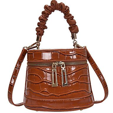 cheap Bags-Women's Bags PU Leather Crossbody Bag / Top Handle Bag for Daily White / Black / Khaki / Brown