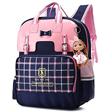 cheap Bags-british style girls backpacks for school princess bowknot kids bookbags (small, blue)