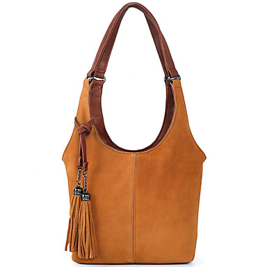 cheap Bags-Women's Bags PU Leather Crossbody Bag Zipper for Daily / Outdoor Wine / Black / Blue / Yellow