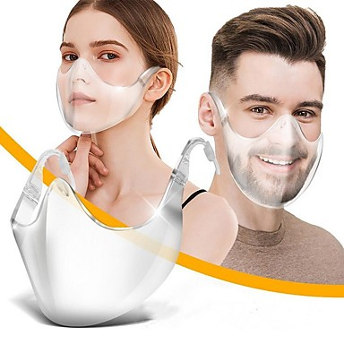 cheap Personal Protection-Face Shield New Plastic Protective Isolation Mask Anti-dropping Anti-epidemic Anti-fog Head Wear Transparent Mask