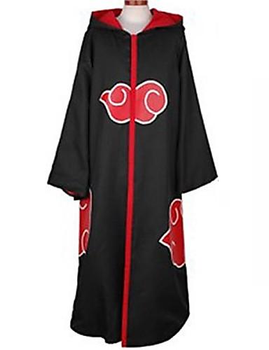 cheap Anime Cosplay-Inspired by Naruto Akatsuki / Sasuke Uchiha Anime Cosplay Costumes Japanese Cosplay Suits Anime Long Sleeve Hoodie Cloak For Men / Women