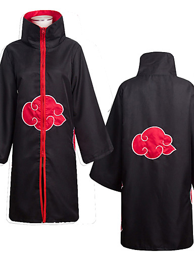 cheap Anime Cosplay-Inspired by Naruto Akatsuki Anime Cosplay Costumes Japanese Cosplay Suits Anime Long Sleeve Cloak For Men's