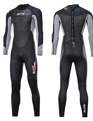 cheap Surfing, Diving & Snorkeling-ZCCO Men's Full Wetsuit 3mm Nylon SCR Neoprene Diving Suit Thermal / Warm Quick Dry Anatomic Design Long Sleeve Back Zip - Swimming Diving Water Sports Spring &  Fall Summer / Stretchy / Stretchy