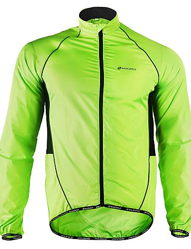 cheap Cycling-Nuckily Men's Cycling Jacket Winter Polyester Bike Jacket Windbreaker Raincoat Waterproof Windproof Breathable Sports Patchwork White / Black / Yellow Mountain Bike MTB Road Bike Cycling Clothing
