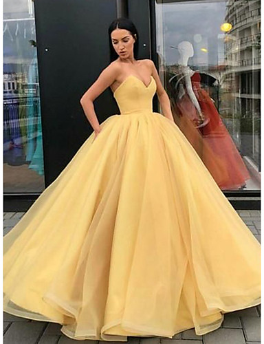 cheap Fast Delivery-Ball Gown Elegant Beautiful Back Quinceanera Formal Evening Dress Strapless Sleeveless Floor Length Tulle with Sleek Pleats Tier 2020