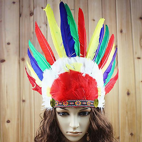 Как сделать индейский головной убор из бумаги
