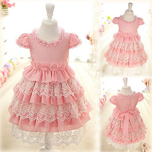 Платье с многоярусной юбкой для девочки своими руками