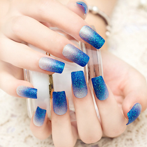LUXE BLUE VELVET amp DIAMOND PEEKABOO NAILS  DOUBLE SIDED