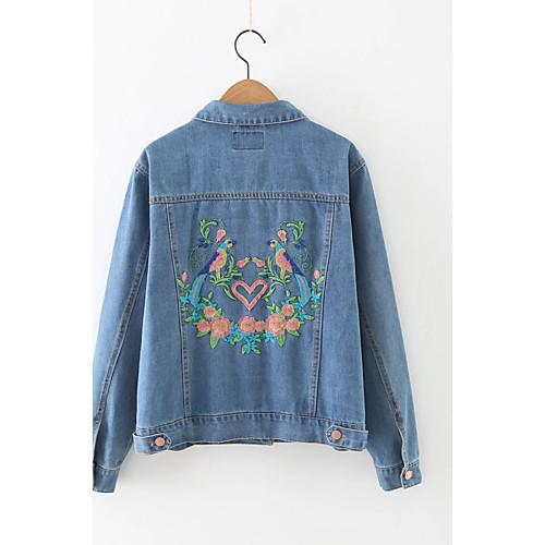 Зара джинсовые куртки с вышивкой 95