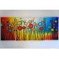 Pictat manual AbstractModern Trei Panouri Canava Hang-pictate pictură în ulei For Pagina de decorare