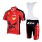 Kooplus Maillot et Cuissard à Bretelles de Cyclisme Homme Manches Courtes Vélo Cuissard à bretelles Maillot Ensemble de Vêtements Séchage