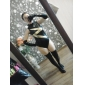 Costume Zentai strălucitoare Morphsuit Ninja Zentai Costume Cosplay 纯色 Leotard/Onesie Mănuși Șosete Spandex Feminin Halloween Crăciun