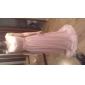lingura teaca / coloană podea-lungime sifon seară / rochie de bal cu ciubuc