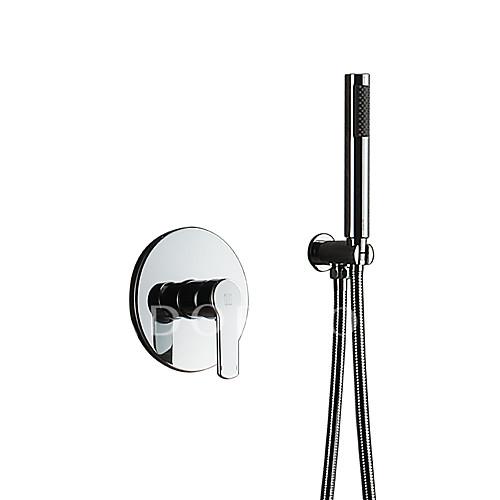Style Simple Douchette Set pour Salle de Bain Douche pluie Chrome  Fonctionnalité - Douchette inclue De Douche, Pomme de douche