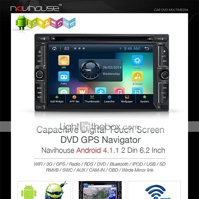 Navihouse 62 2 din android car dvd player with gps ipodrds photos asfbconference2016 Gallery