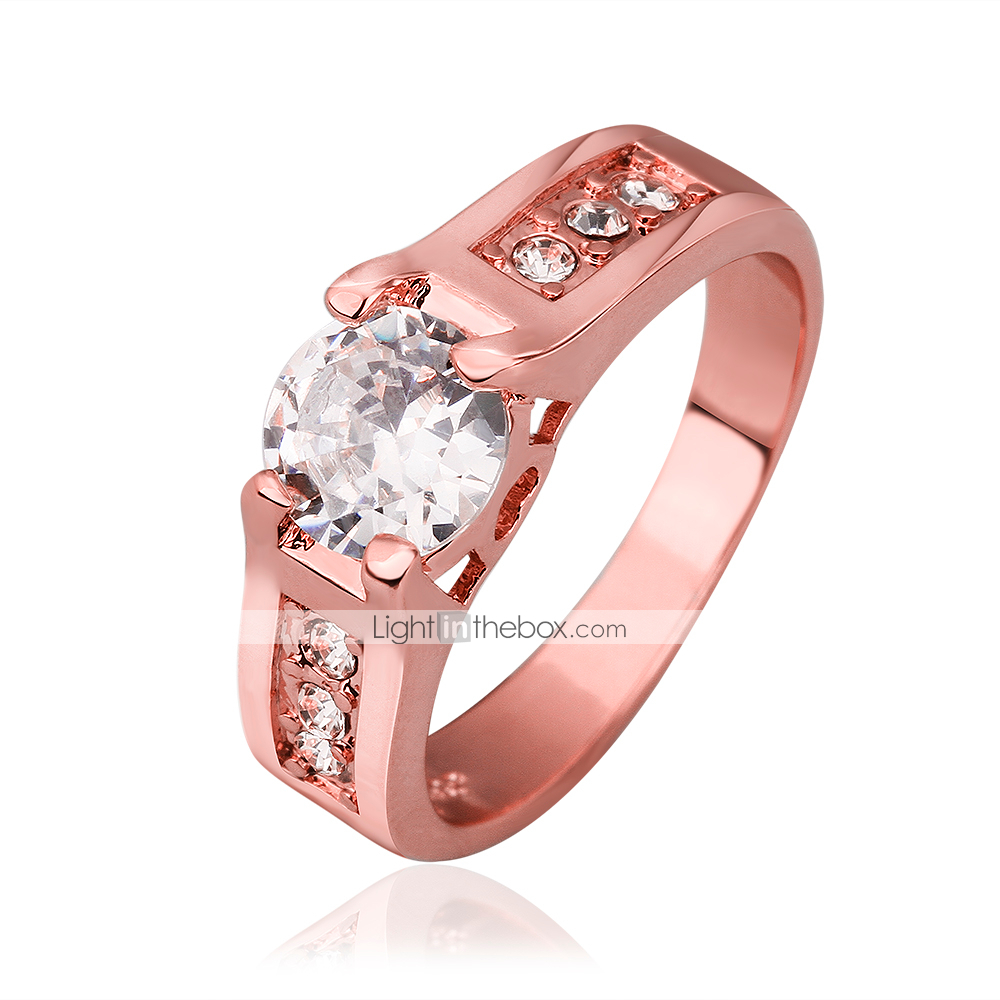 Women\'s Rose Gold Plated/Brass Ring With Cubic Zirconia 2918572 2018 ...