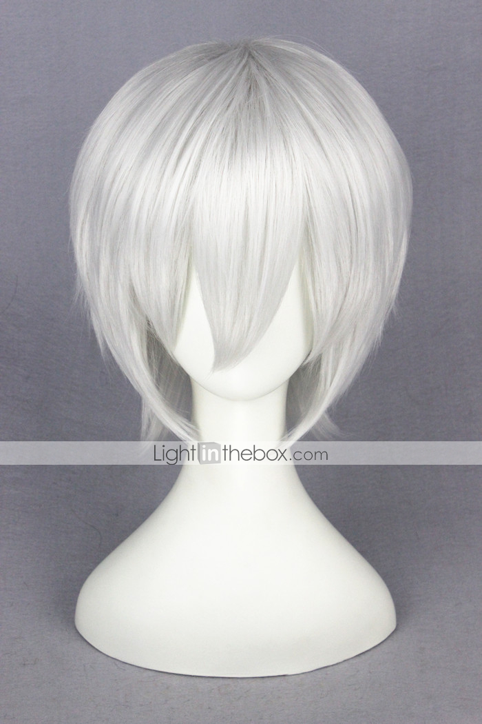 cap Popular Tokyo Ghouls Kaneki Ken Anime Cosplay Wig Short Hair Silver Men/'s